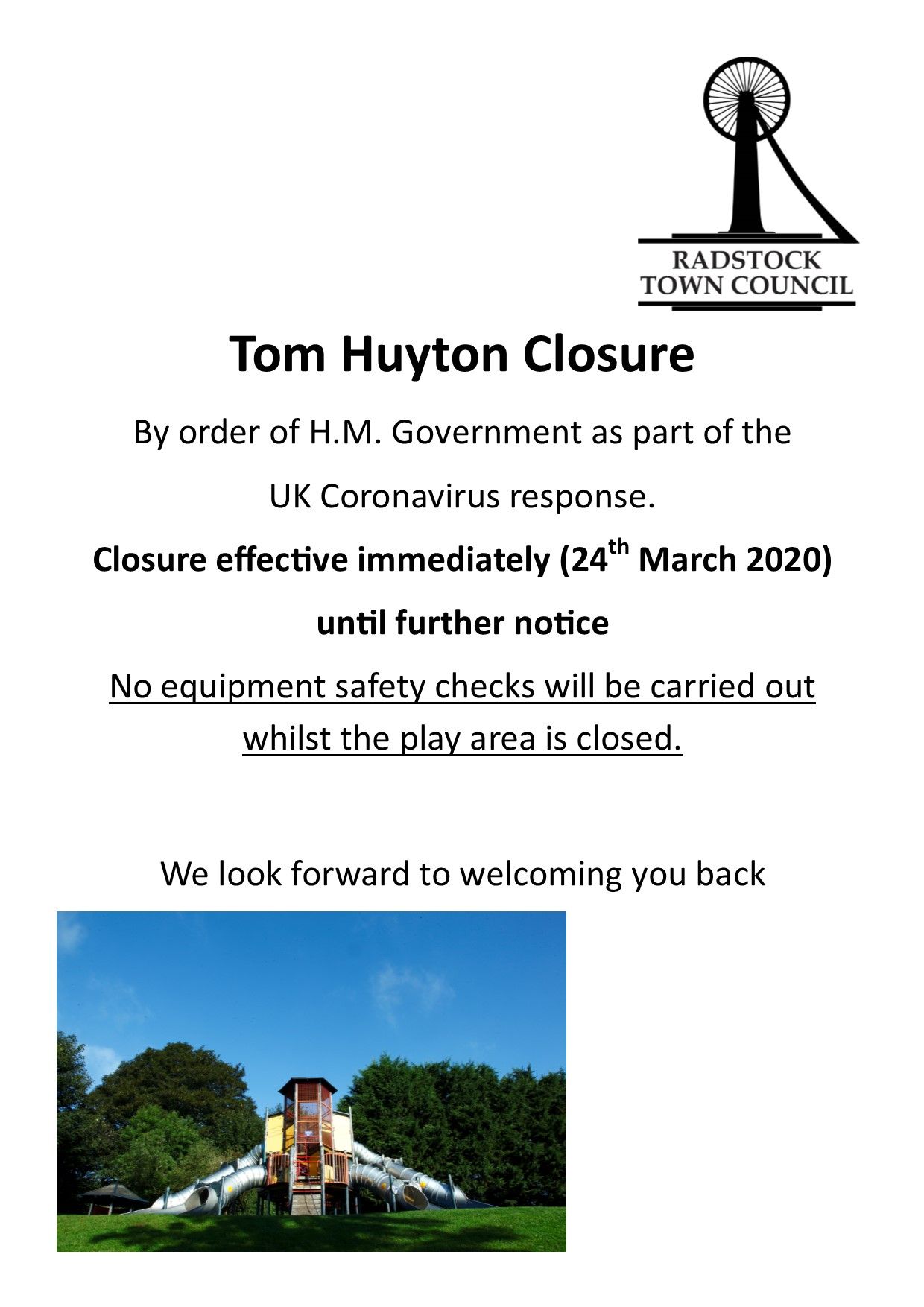Closure of Tom Huyton