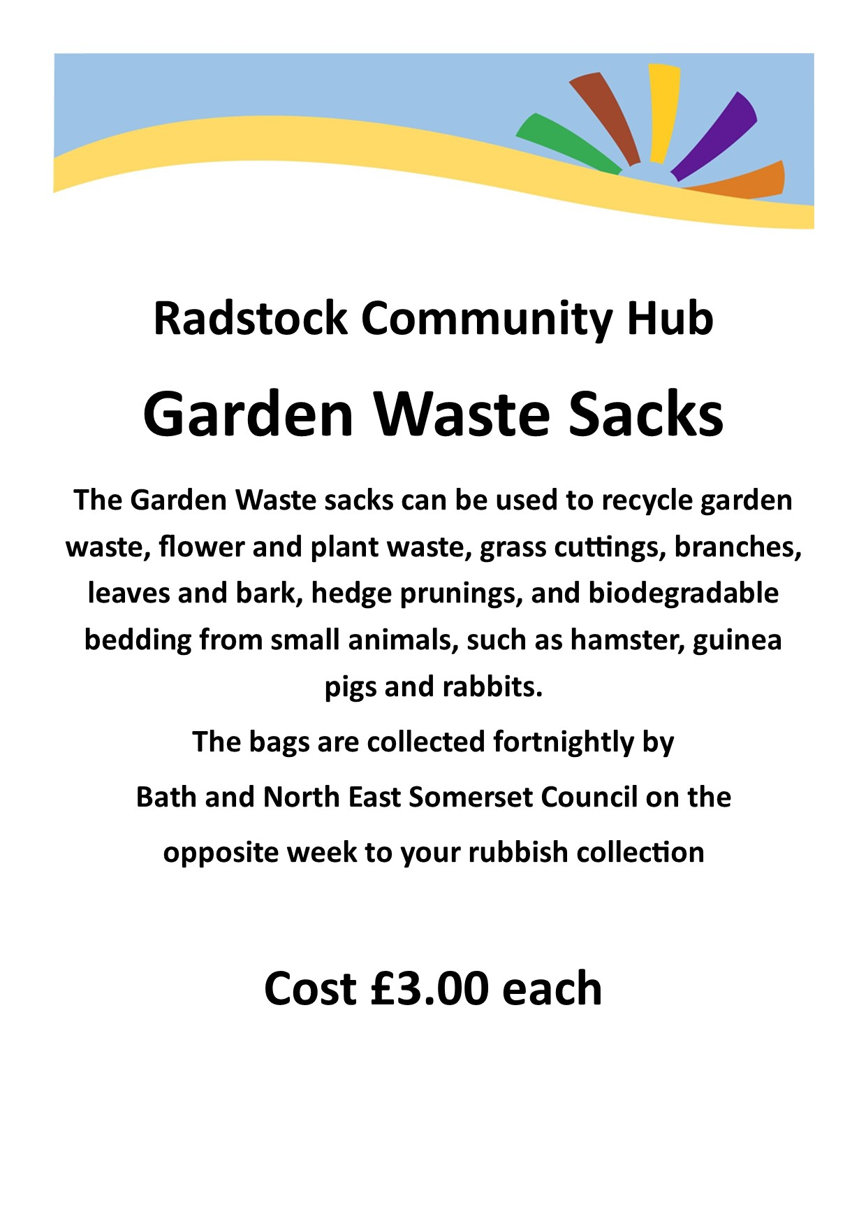 Garden Waste Sacks poster