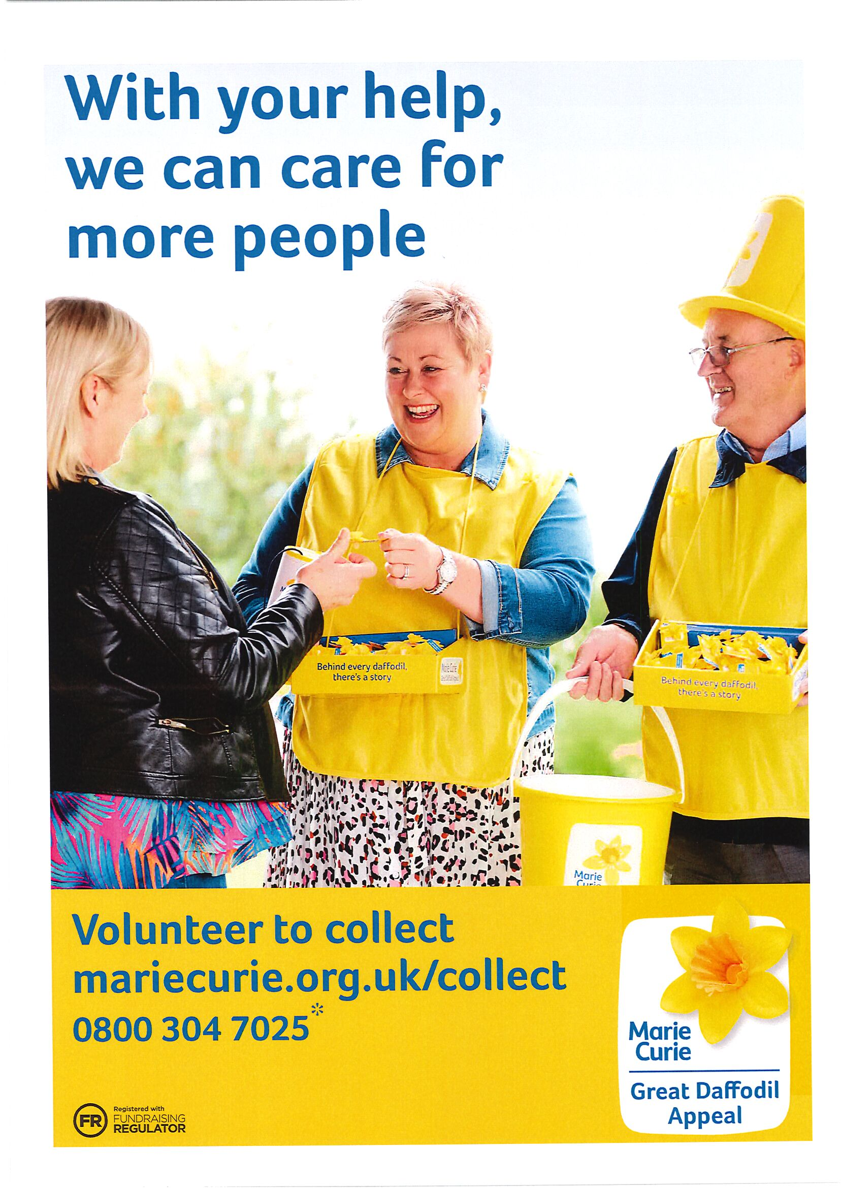 Volunteer to collect Marie Curie